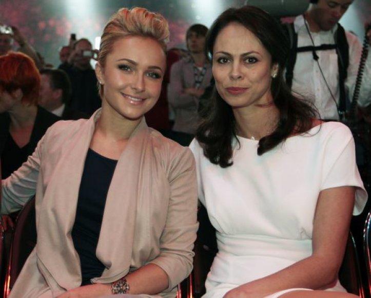 Vladimiro draugė JAV aktorė Hayden Panettiere ir Vitalijaus žmona Natalie