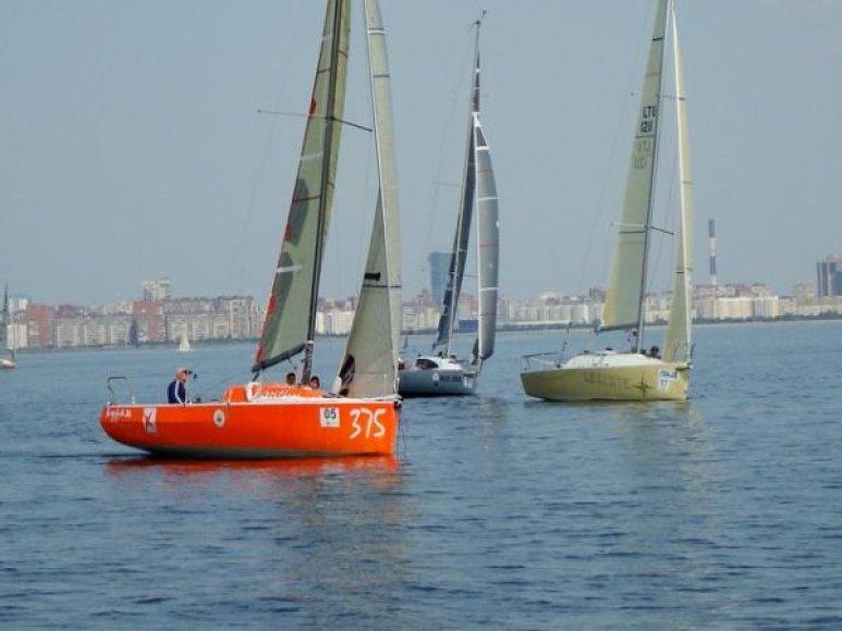 """LevanteJachta """"Levante"""" ORC sportinių laivų Europos čempionate Sankt Peterburge."""