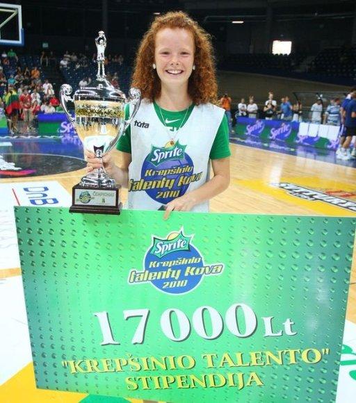 Krepšinio stipendijos laimėtoja Dalia Belickaitė