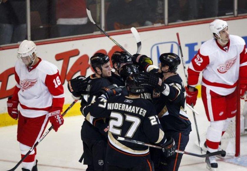 """Titulą ginantiems """"Red Wings"""" ledo ritulininkams teks žaisti lemiamas septintąsias serijos rungtynes"""