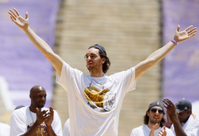 P.Gasolis šiais metais laimėjo NBA čempionatą