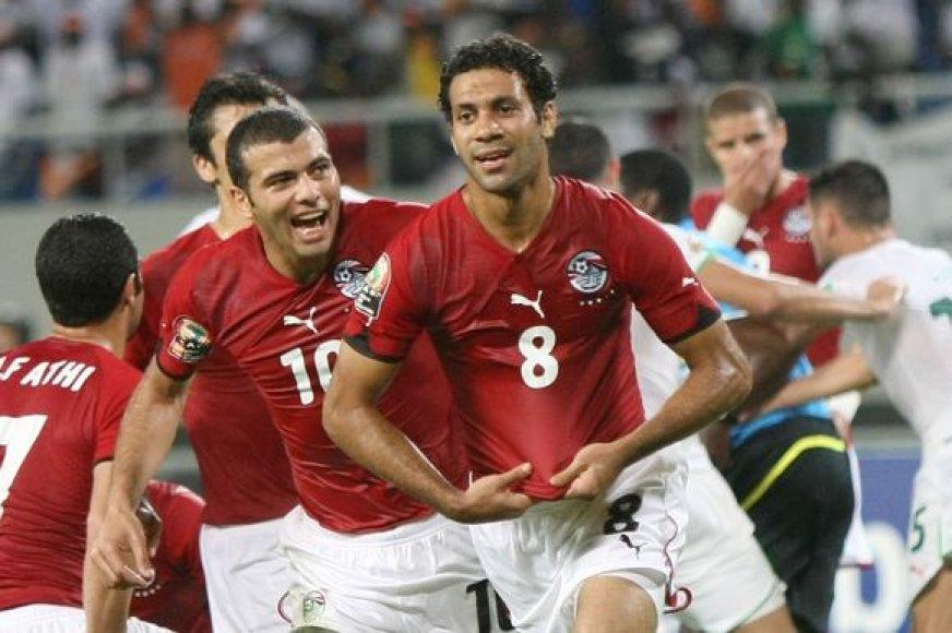 Egipto futbolininkai mėgins trečią kartą iš eilės iškovoti Afrikos čempionų vardą