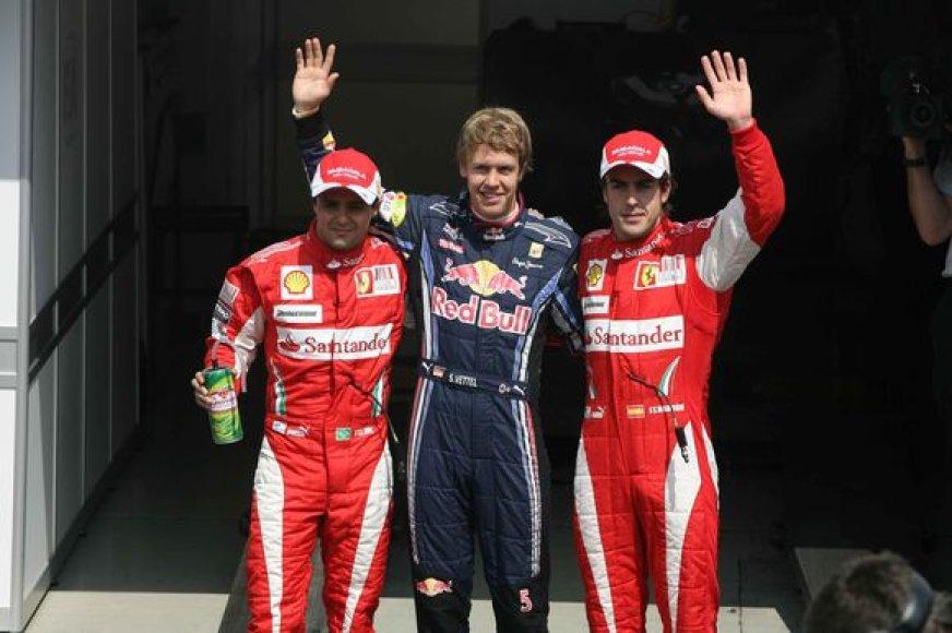 S.Vettelis savo gimtinėje startuos iš pirmosios pozicijos
