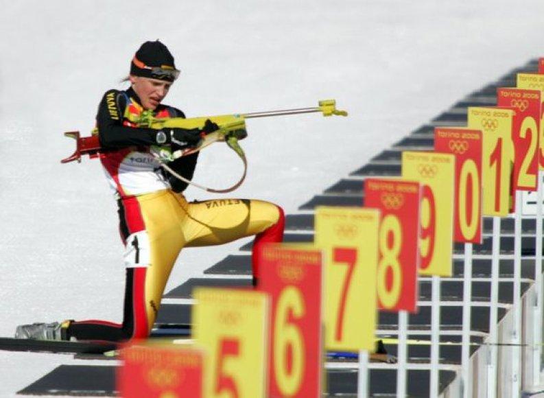 Su biatlonininke Diana Rasimovičiūte siejamos nemenkos viltys Vankuverio olimpiadoje.
