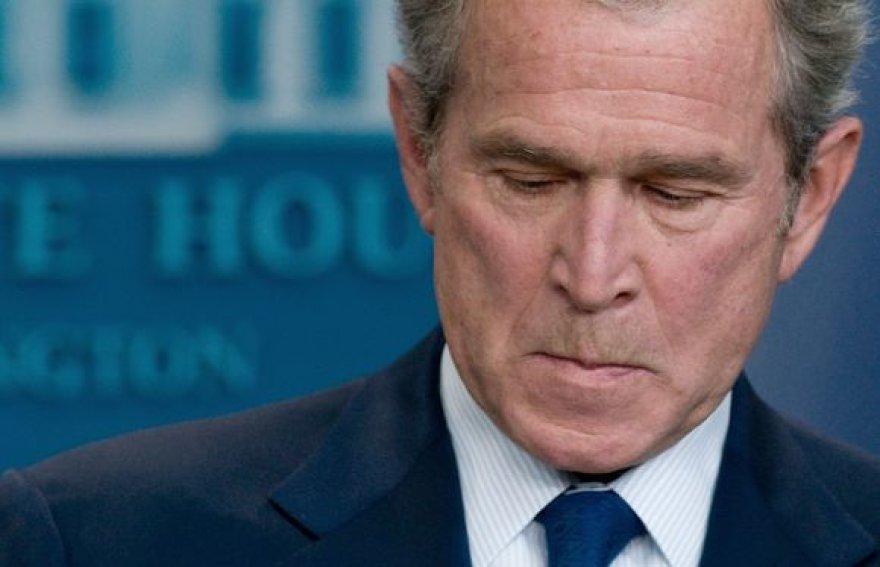 Bushas paskutinėje savo konferencijoje.