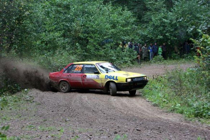 """Antros ralio """"Aplink Lietuvą-2009"""" dienos akimirkos"""