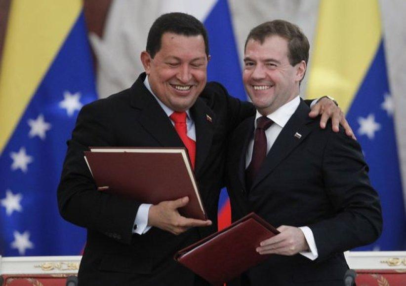 H.Chavezas ir D.Medvedevas