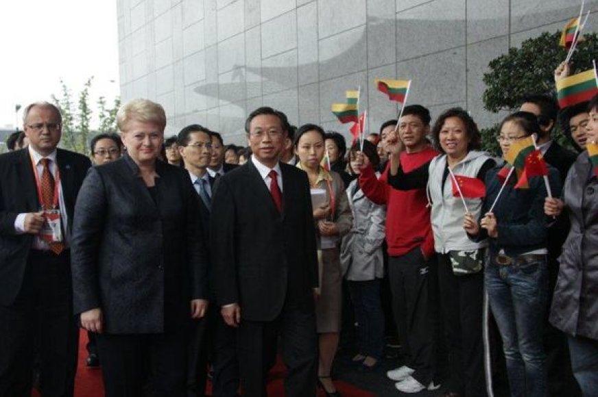 D.Grybauskaitė lankėsi Šanchajuje.