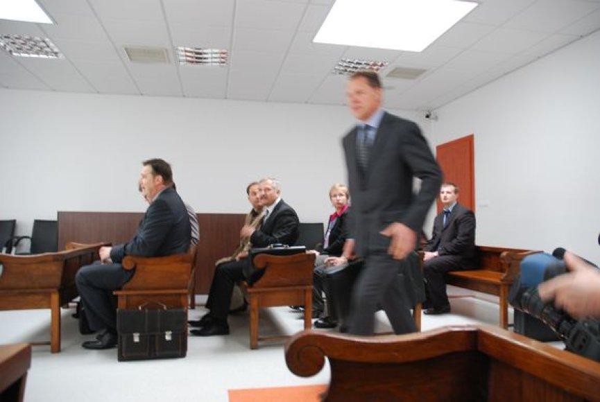 P.Milašauskas atskubėjo į teismo posėdį minutėlę pavėlavęs.