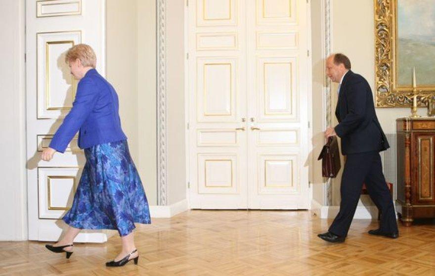 Dalia Grybauskaitė ir Andrius Kubilius