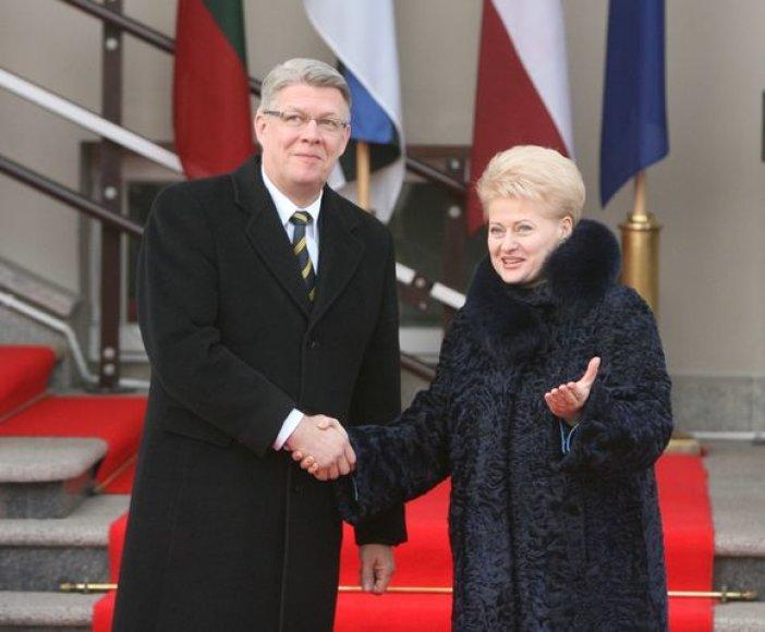 Dalia Grybauskaitė priėmė Estijos prezidentą Toomą Hendriką Ilvesą ir Latvijos prezidentą Valdį Zatlerį.
