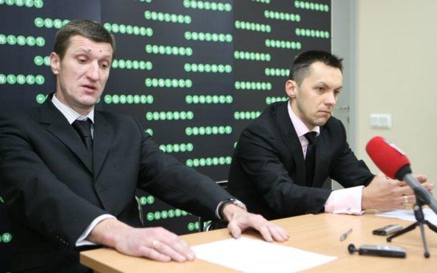 Igoris Pankratjevas ir  Mindaugas Čepas