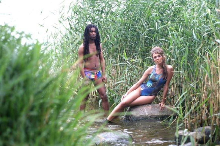 Antradienį Nidoje įvyko dizainerių dueto A&V sukurtų maudymosi kostiumėlių fotosesija.