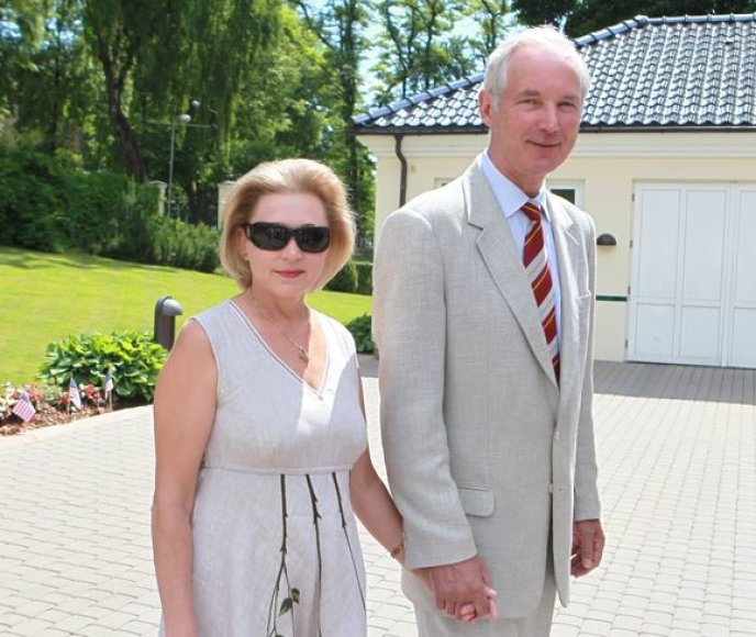 Adolfas Šleževičius su žmona Janina