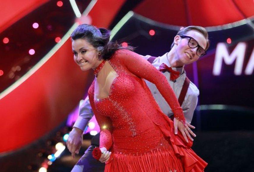Evelina Sašenko ir Rolandas Beržinis