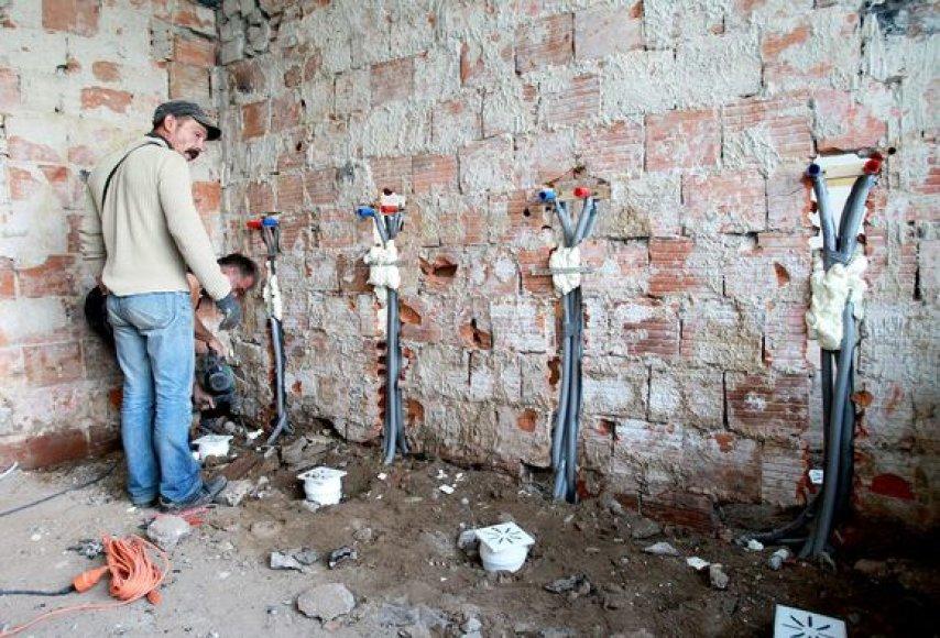 Rugsėjo 1-ąją dalis sostinės mokyklų pasitinka remontų įkarštyje.