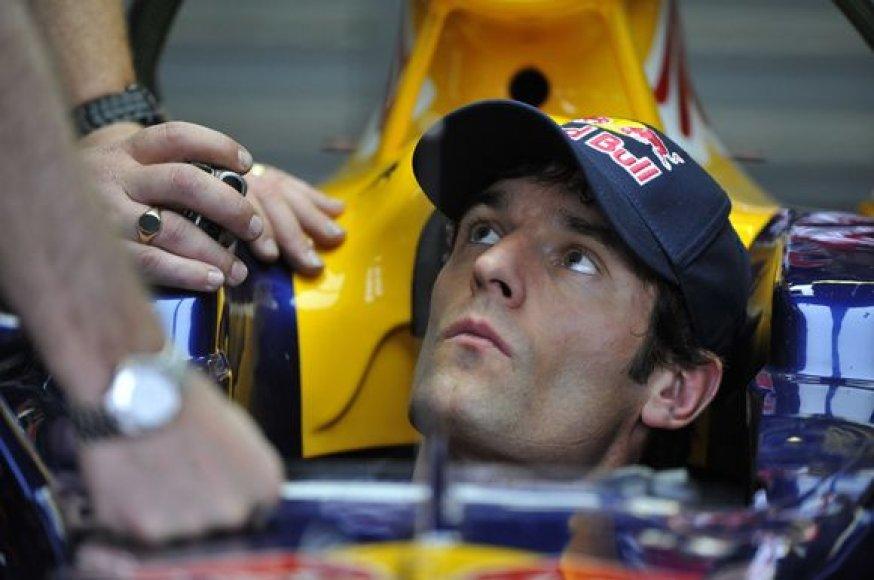 """Red Bull"" pilotas Markas webberis"