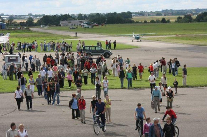 S.Dariaus ir S.Girėno aerodrome pastaruoju metu vis dažniau vyksta miesto šventės.