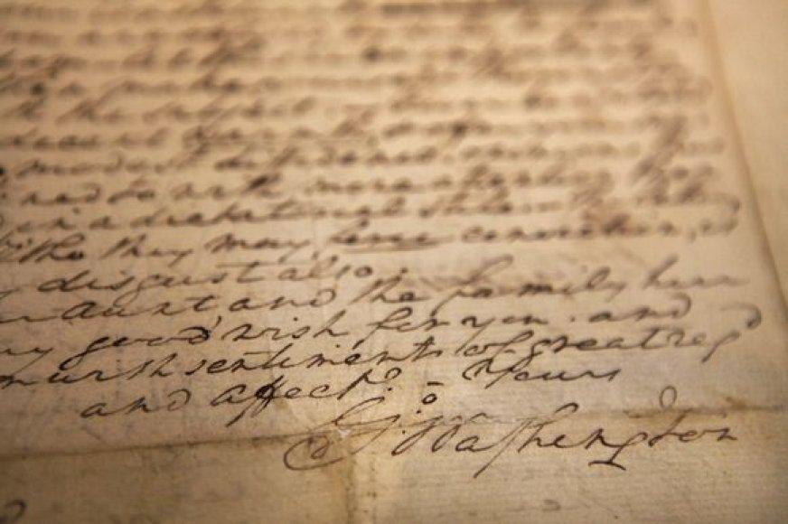 G.Washingtono laiškas