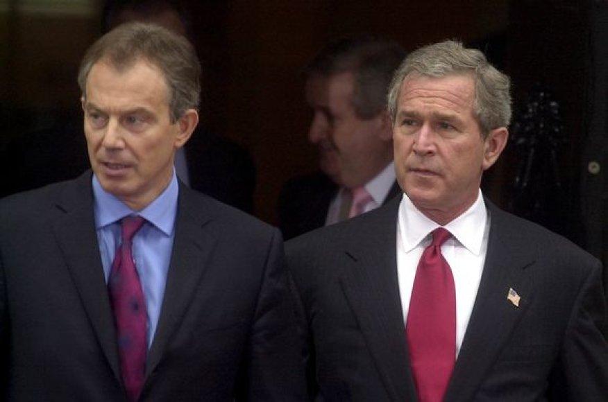 T.Blairas ir G.W.Bushas