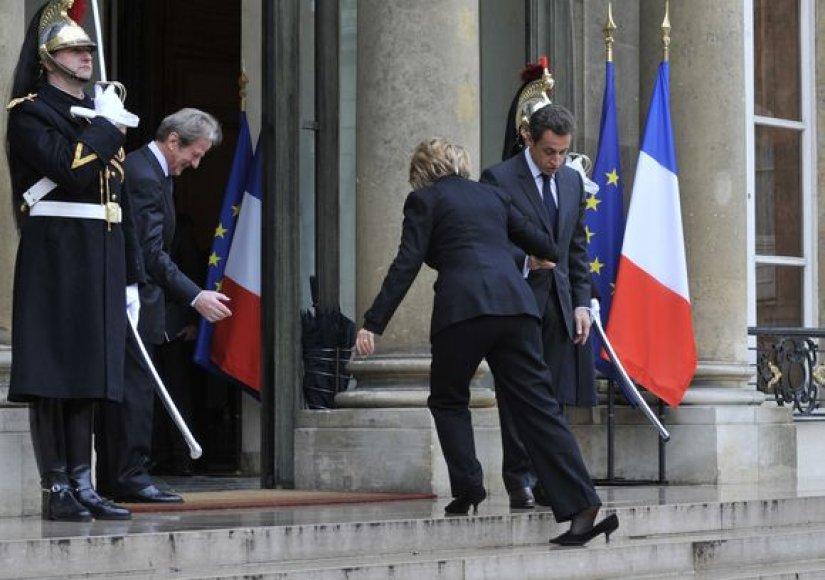 H.Clinton ir N.Sarkozy susitikimas