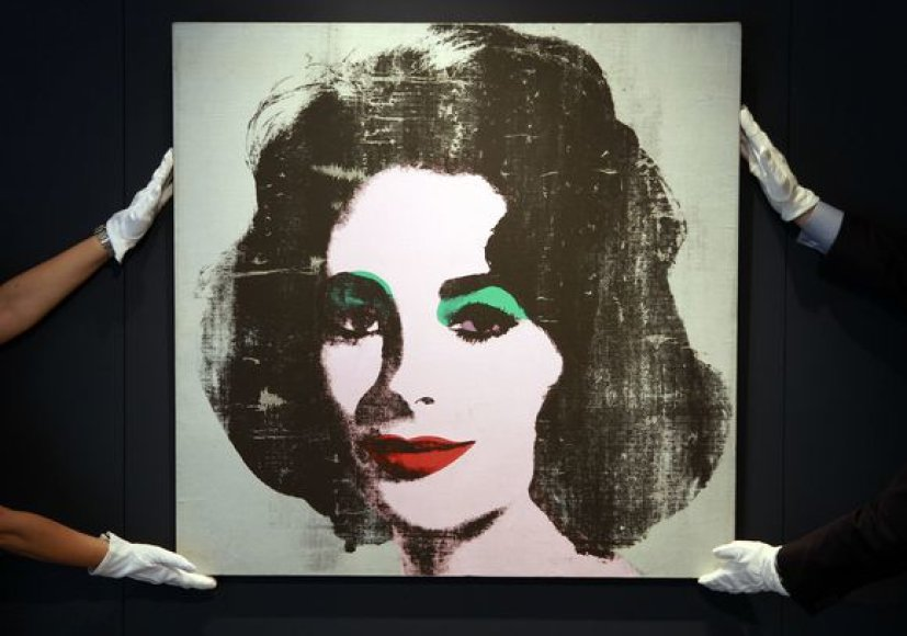 Legendinės aktorės Elizabeth Taylor portretas