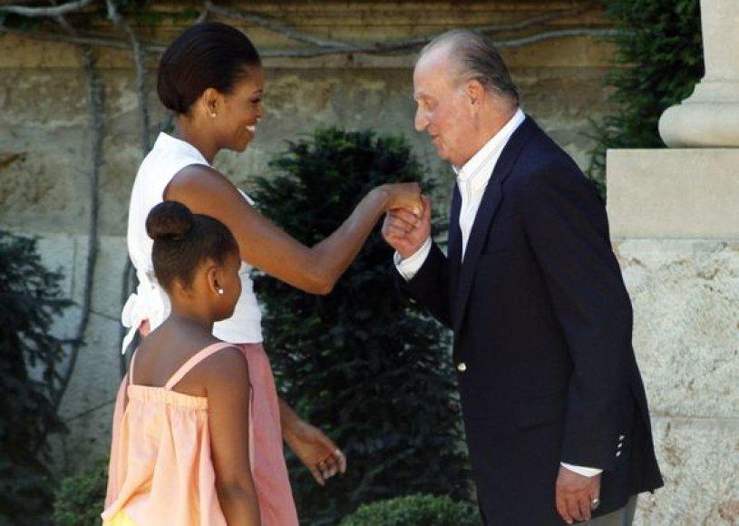 Karališkas M.Obama priėmimas