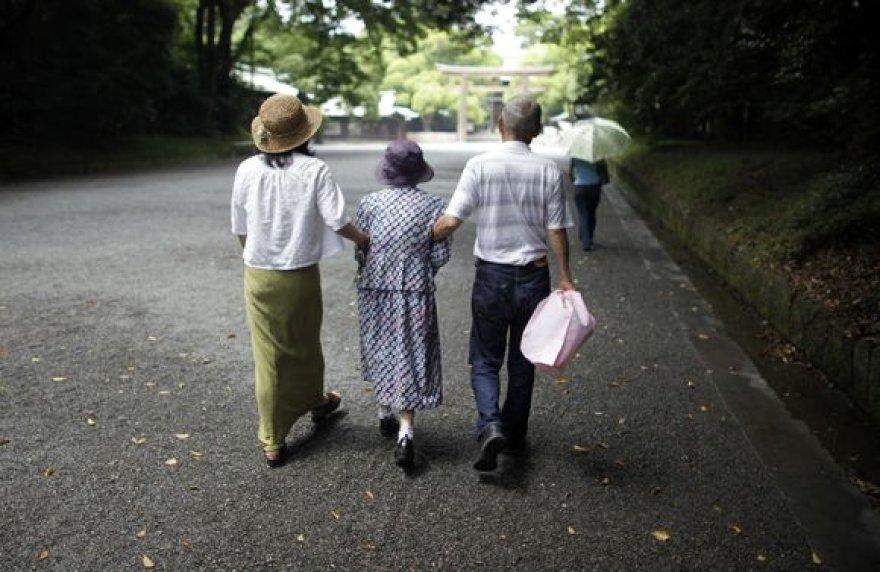 Pagyvenę žmonės Japonijoje