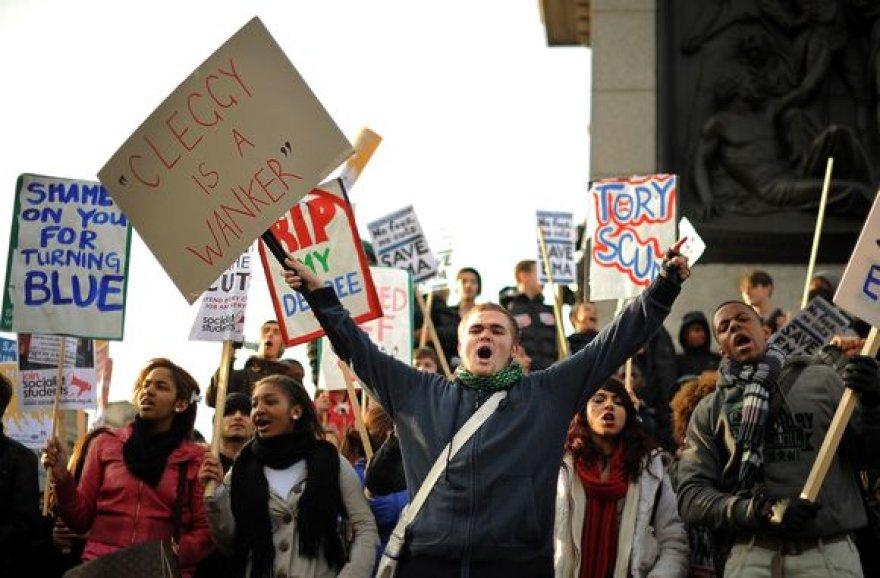 Studentų protestas Anglijoje
