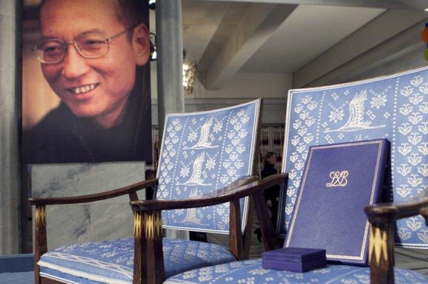 Tuščia kėdė, skirta Liu Xiaobo, per Nobelio apdovanojimus