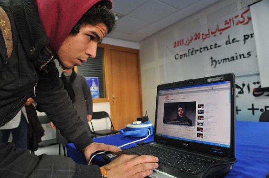 Marokietis prie interneto