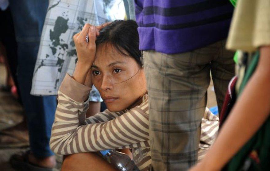 Evakuacijos centre Filipinuose
