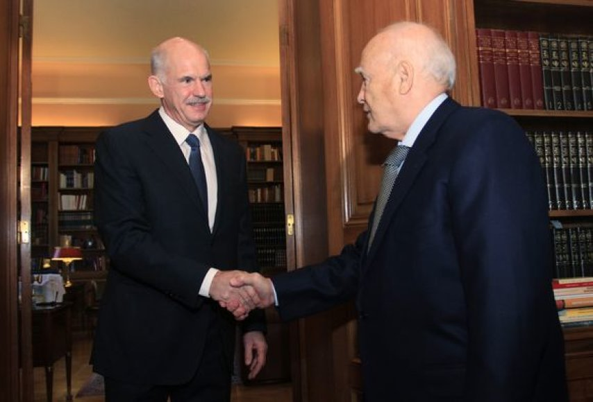 George Papandreou ir Carolos Papoulias