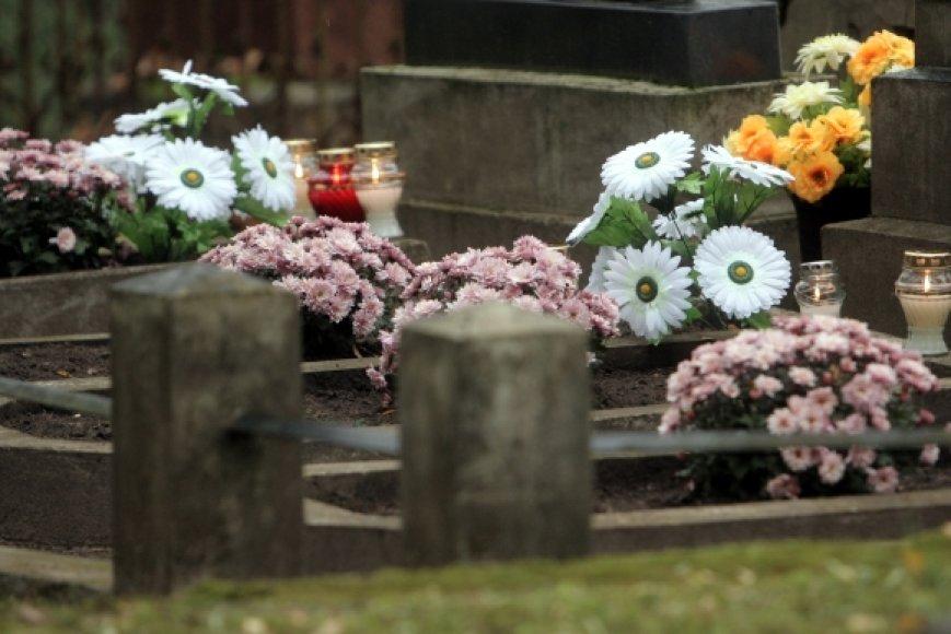Seimo pirmininkė Irena Degutienė lankosi kapinėse