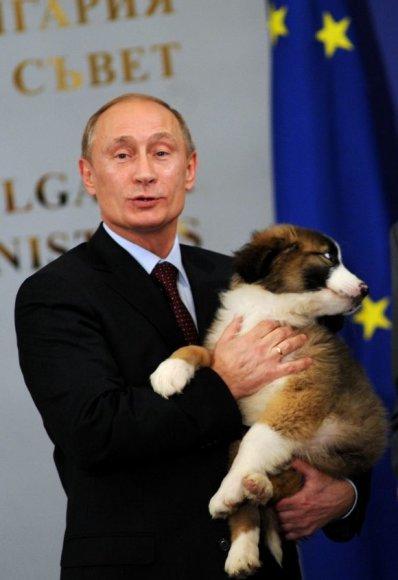 Vladimiras Putinas su savo naujuoju augintiniu