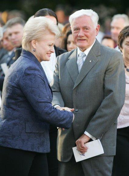 D.Grybauskaitė su V.Adamkum