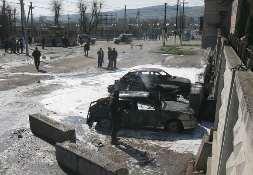 Vaizdai po sprogimų