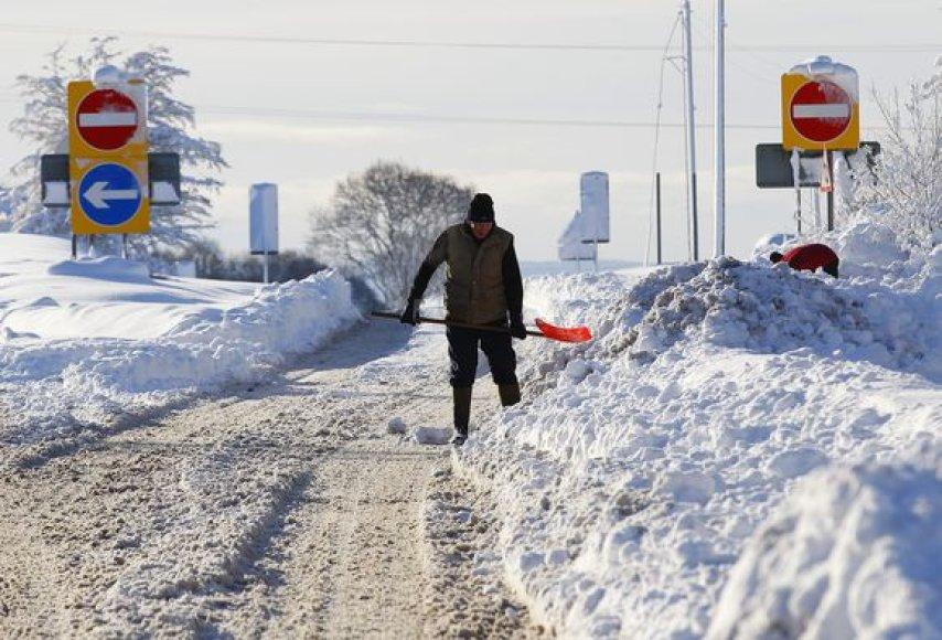 Žiema užklupo Didžiąją Britaniją
