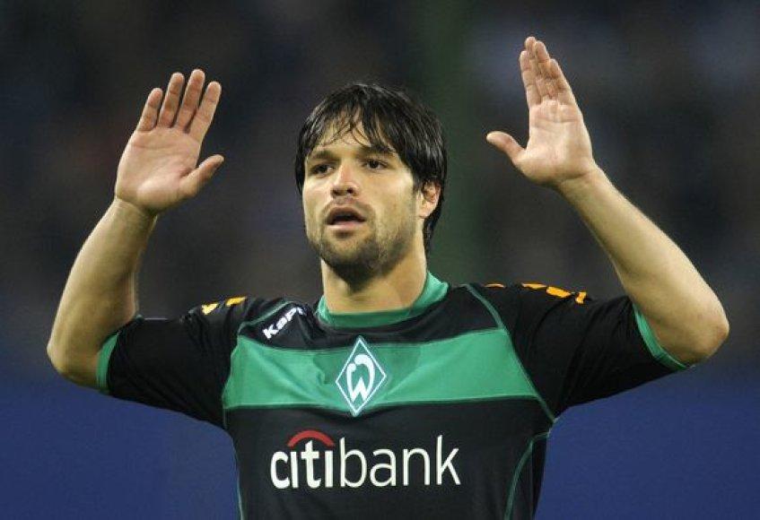 """""""Werder"""" klubo garbę Diego gynė nuo 2006 metų, kai atvyko iš """"Porto"""" ekipos."""