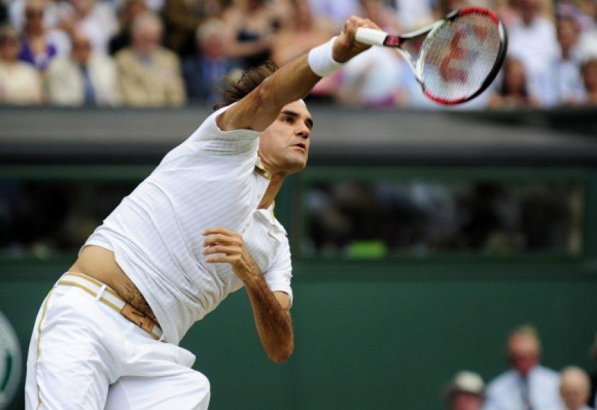 Vimbldono aštuntfinalyje R.Federeris nukovė atvirojo Prancūzijos teniso čempionato finalininką R.Soderlingą.