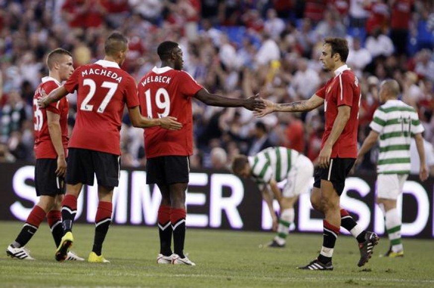 """Pirmosiose pasiruošimo sezonui rungtynėse """"Manchester United"""" 3–1 įveikė """"Celtic"""""""