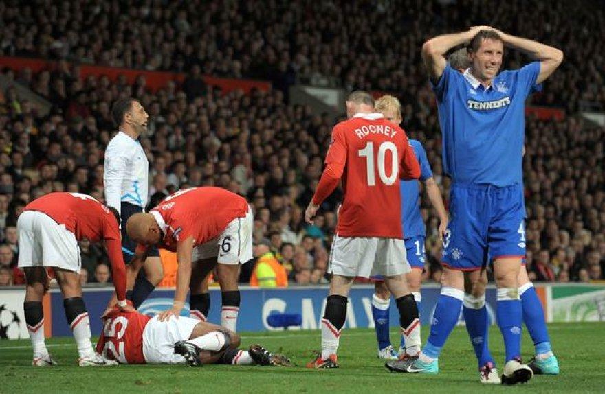 Futbolininkų reakcija į kraupią traumą