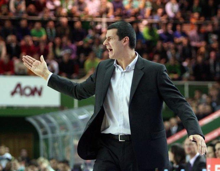 """""""Partizan"""" treneris Vlade Jovanovičius"""