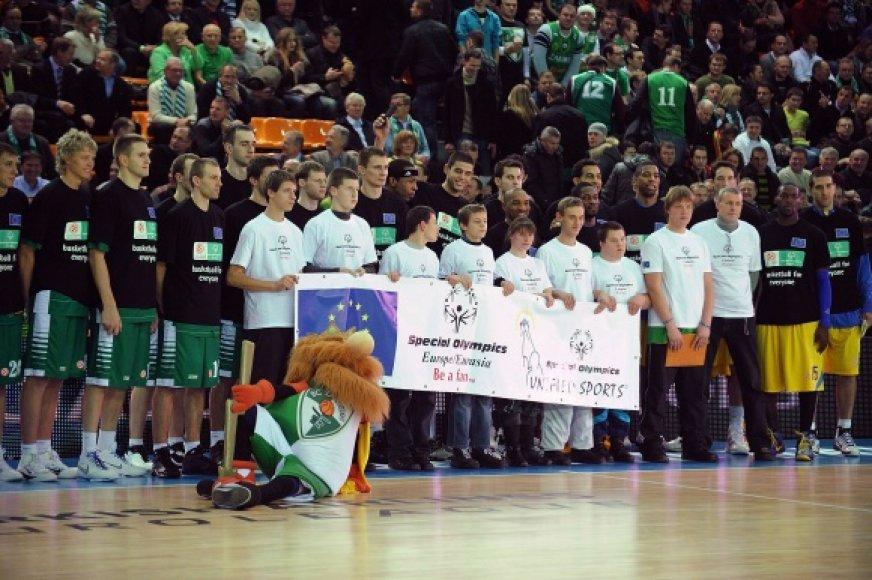 """Eurolygos """"Special Olympics"""" ketvirtadienį vyko prieš """"Žalgirio"""" ir """"Maccabi"""" rungtynes"""
