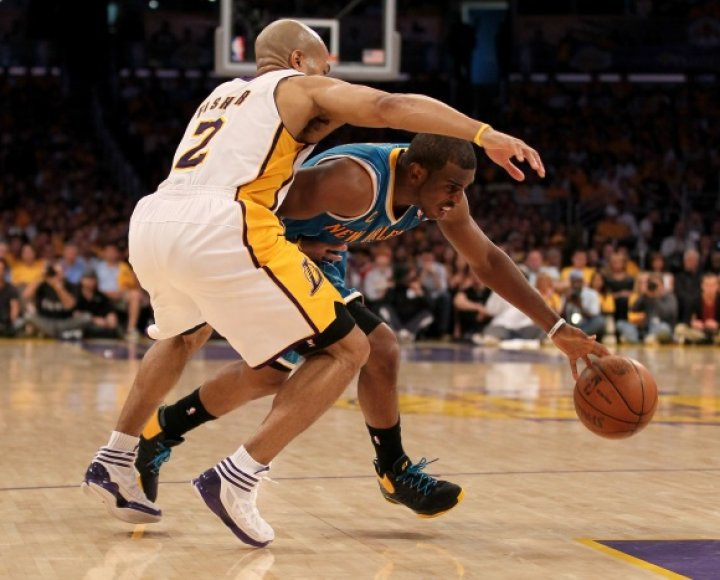 """Chrisas Paulas ir """"Hornets"""" pirmosiose ketvirtfinalio serijos rungtynėse nuliūdino """"Lakers"""""""