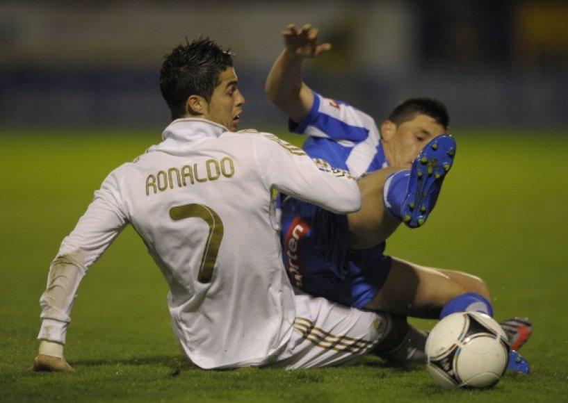 Cristiano Ronaldo pelnė įvartį
