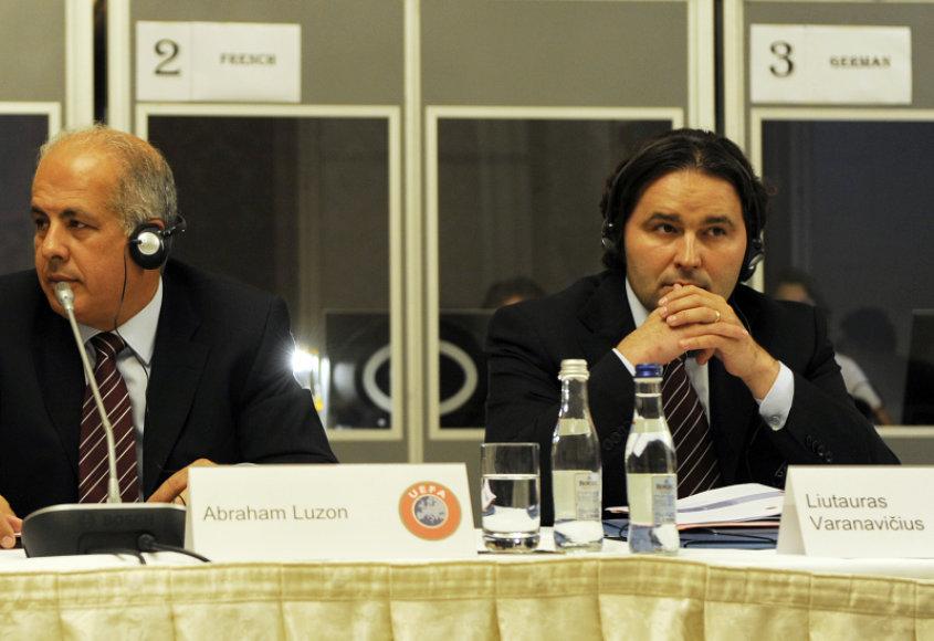 2016 metų Europos čempionato šeimininkus lems ir LFF prezidento L.Varanavičiaus balsas