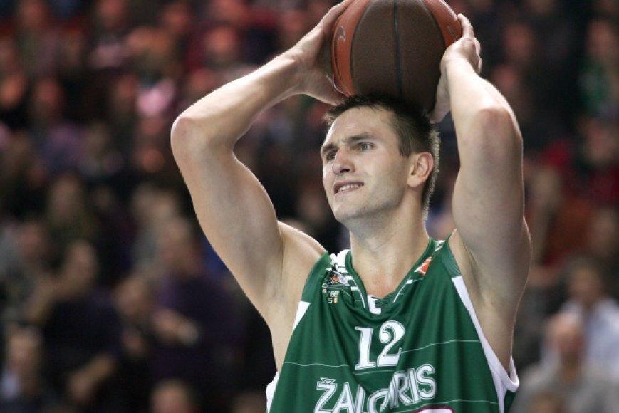 """""""Žalgiriui"""" daugiausia taškų pelnė Tadas Klimavičius."""