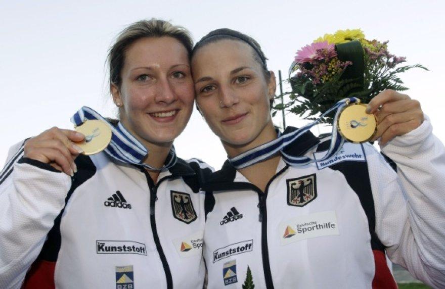 Anne Knorr ir Debora Nich atsiimdamos aukso medalius išgirdo ne Vokietijos, o nacių himną.