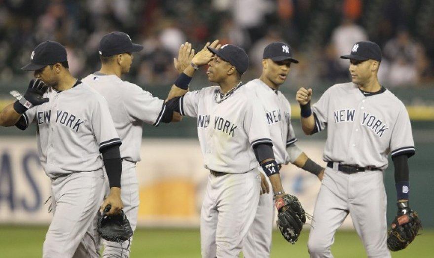 """Yankees"" beisbolininkai."